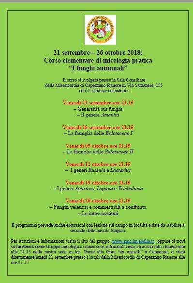 Calendario Funghi.Gruppo Micologico Camaiorese I Funghi Sono La Nostra